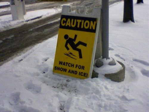 how to walk on snow and ice