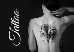Woman-tattoos-back-animal-cat-tattoo-clipart