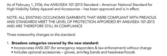 New ANSI/ISEA 107-2015 Standard   Nationalsafety's Weblog